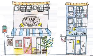 WINGTIPのこと:世界一大きな古墳「仁徳天皇陵」と大仙公園のすぐ近くにあります。石窯ピッツァを中心に、石窯で調理したお料理や手作りジェラートを楽しめるお店です。大阪府堺市堺区大仙中町8-2